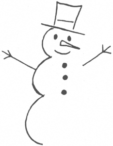 This is a snowman